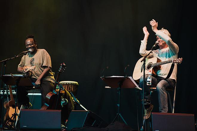 Musiker auf der Buehne