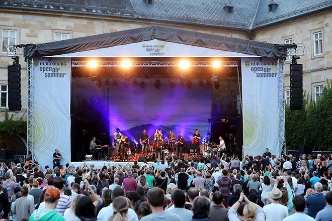 Konzertbuehne von Schloss Tambach