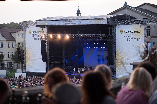 openairsommer Konzertbuehne auf dem Schlossplatz